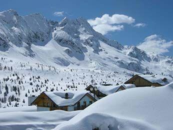 Winter landscape Passo Tonale